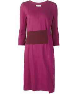 Maison Margiela | Асимметричное Платье С Поясом В Рубчик