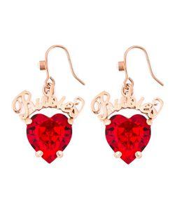 Mawi | Rubies Word Heart Earrings