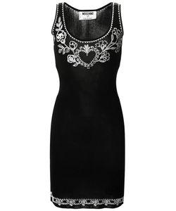 MOSCHINO VINTAGE | Приталенное Платье С Вышивкой