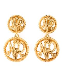 NINA RICCI VINTAGE | Logo Clip-On Earrings