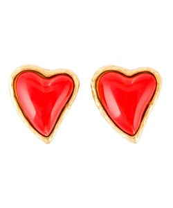 CHRISTIAN LACROIX VINTAGE | Stone Heart Earrings