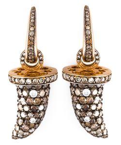 MONAN | Diamond Tusk Shaped Earrings