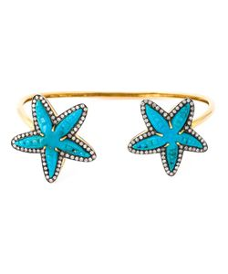 GEMCO | Turquoise And Diamond Starfish Bangle