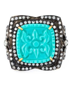GEMCO | Turquoise And Diamond Cocktail Ring