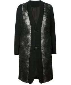 Comme Des Garçons Noir Kei Ninomiya   Пальто С Вставками Из Тюля