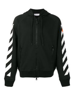 Moncler x Off-White | Stripe Zip-Up Hoodie