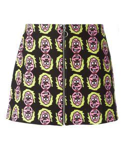 ASHLEY WILLIAMS | Face Print Zip Skirt