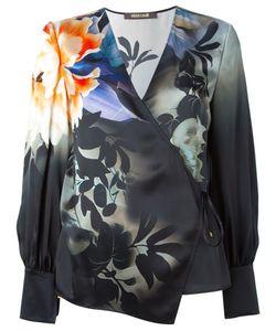 Roberto Cavalli   Блузка С Цветочным Принтом