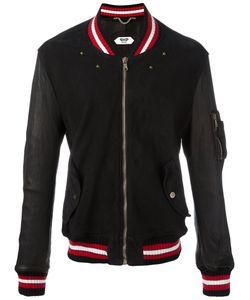Pihakapi | Striped Trim Jacket Large Lamb Skin/Cotton/Polyamide/Cotton