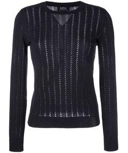 A.P.C.   A.P.C. Annabelle Pointelle-Knit Sweater M