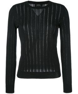 A.P.C. | A.P.C. Annabelle Pointelle-Knit Sweater Size Medium