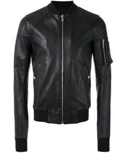 Rick Owens | Raglan Bomber Jacket Size 52 Cotton/Goat Skin/Cupro/Virgin