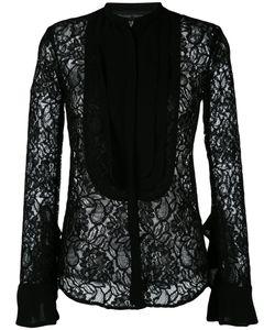 Christian Pellizzari | Sheer Lace Bib Shirt Size 44