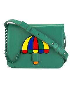 Yazbukey | Umbrella Patch Shoulder Bag Leather/Polyamide