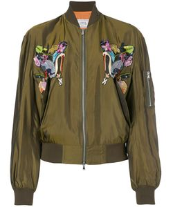 FORTE COUTURE | Bird Embroidered Bomber Jacket