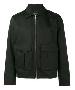 Rag & Bone   Eddie Jacket Large Cotton/Calf Leather/Nylon/Cotton
