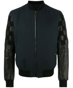 Lanvin | Mix Material Bomber Jacket 50 Silk/Cotton/Lamb Skin/Polyester