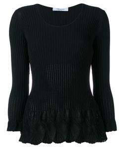 Blumarine | Flared Knit Top Size 44