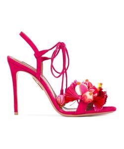Aquazzura   Pom Pom Sandals Size 38.5