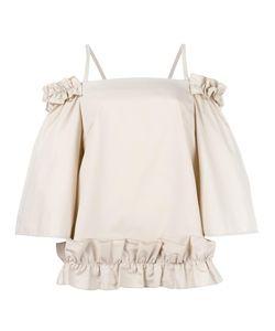 PASKAL | Ruched Blouse Large Cotton/Spandex/Elastane