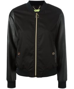 Versace Jeans   Contrast Sleeve Bomber Jacket 44 Cotton/Spandex/Elastane/Polyester
