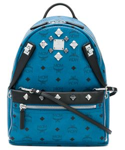 MCM | Logo Print Embellished Backpack