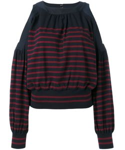 Sacai   Cold Shoulder Knitted Top Size 4
