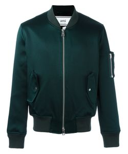 Ami Alexandre Mattiussi | Zipped Bomber Jacket Small Cotton/Acetate/Viscose