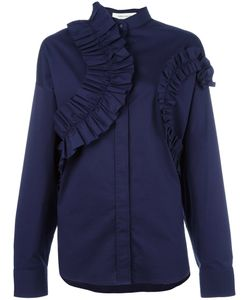 Cedric Charlier | Cédric Charlier Ruffled Panel Blouse 40 Cotton/Other Fibers