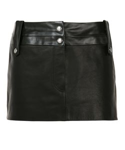 BEAU SOUCI | Short Leather Skirt