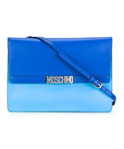 Moschino   Letters Shoulder Bag Leather