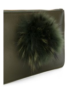 MR & MRS Italy | Fur Embellished Clutch