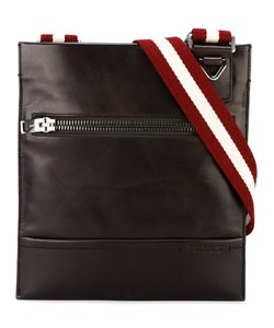 Bally | Striped Strap Messenger Bag Leather/Cotton