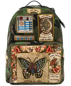 Valentino | Patch Appliqued Backpack Cotton/Leather