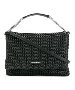 Emporio Armani | Textu Shoulder Bag Polyester/Polyurethane/Cotton