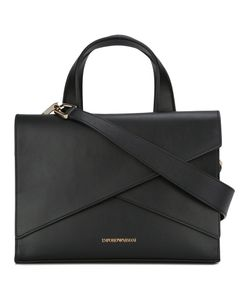 Emporio Armani | Logo Print Shoulder Bag Calf Leather/Cotton