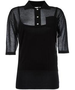 Moncler | Semi-Sheer Knitted Polo Shirt