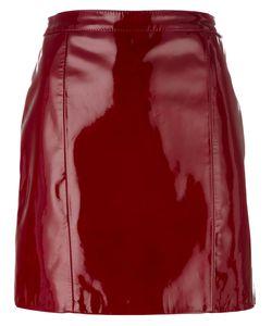 Manokhi | Shinny Short Pencil Skirt 36 Lamb Skin
