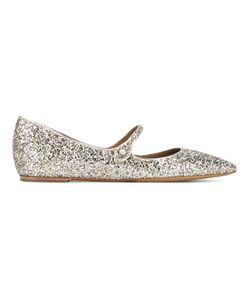 Tabitha Simmons | Hermione Glitter Flats 39 Leather/Pvc