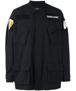 SANKUANZ | Patch Shirt Jacket Size Large