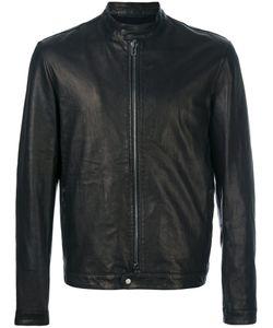 SALVATORE SANTORO | Band Collar Leather Jacket Men Lamb