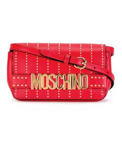 Moschino   Studded Crossbody Bag Calf Leather
