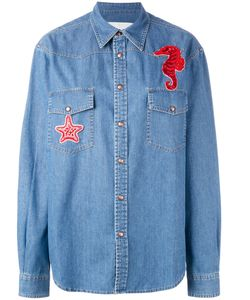 AVA ADORE | Seahorse Patch Denim Shirt