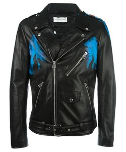 Faith Connexion   Brexit Biker Jacket 48 Calf Leather/Acetate/Polyester