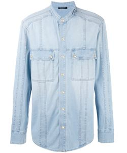 Balmain | Collarless Denim Shirt 40 Cotton
