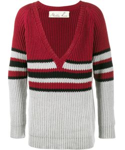 MARTINE ROSE | V-Neck Stripe Jumper