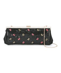 Red Valentino | Lady Bugs Embellished Clutch Satin/Plastic/Glass/Cotton