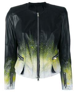 Sylvie Schimmel | Ink Splatter Jacket 40 Lamb Skin