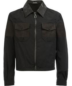 Lanvin | Cropped Zip Front Shirt Jacket Size 50 Cotton/Calf
