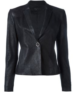 Drome | Leather Blazer Medium Lamb Skin/Viscose/Polyester